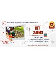 """Kit Zaino """"A Scuola con Te"""" per garantire un kit scolastico"""